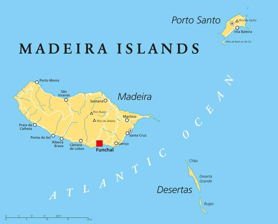 Macaronesia Madeira Islands Map