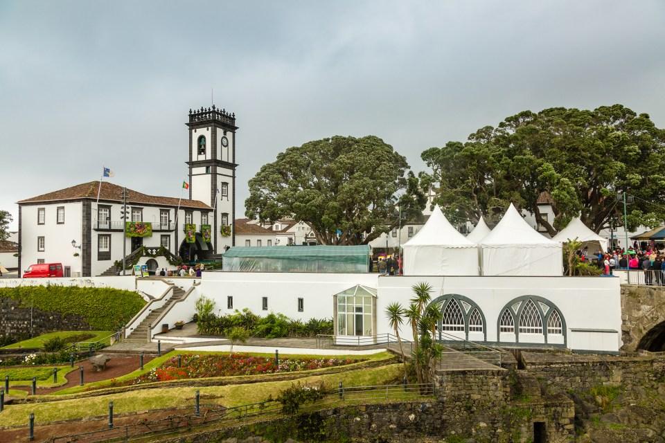 Ribeira Grande Town Gardens On Sao Miguel Island, Azores
