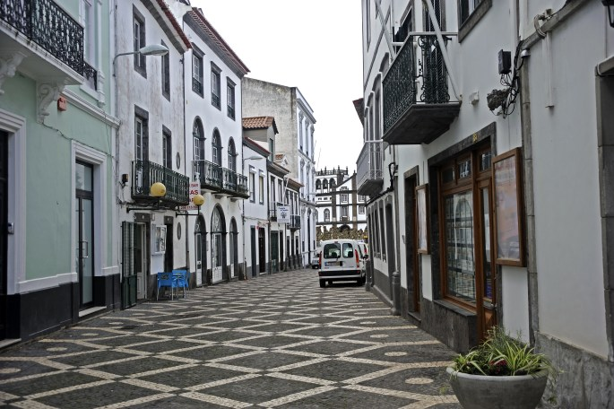Street view in Ponta Delgada, Azores islands