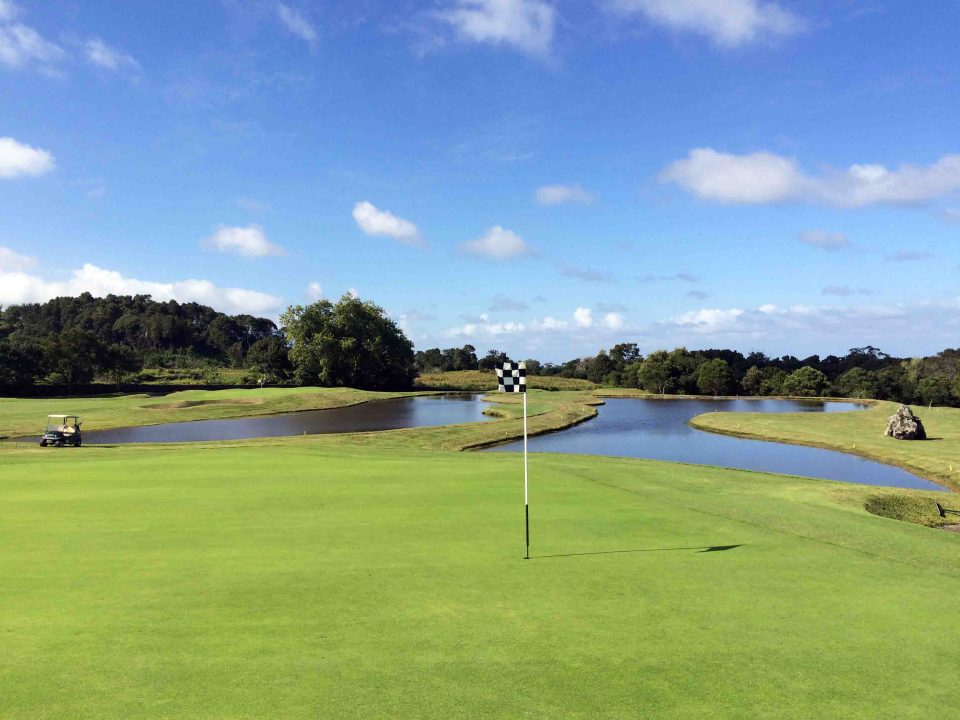 Ponds at Golf Course on Sao Miguel Island in the Azores Portugal