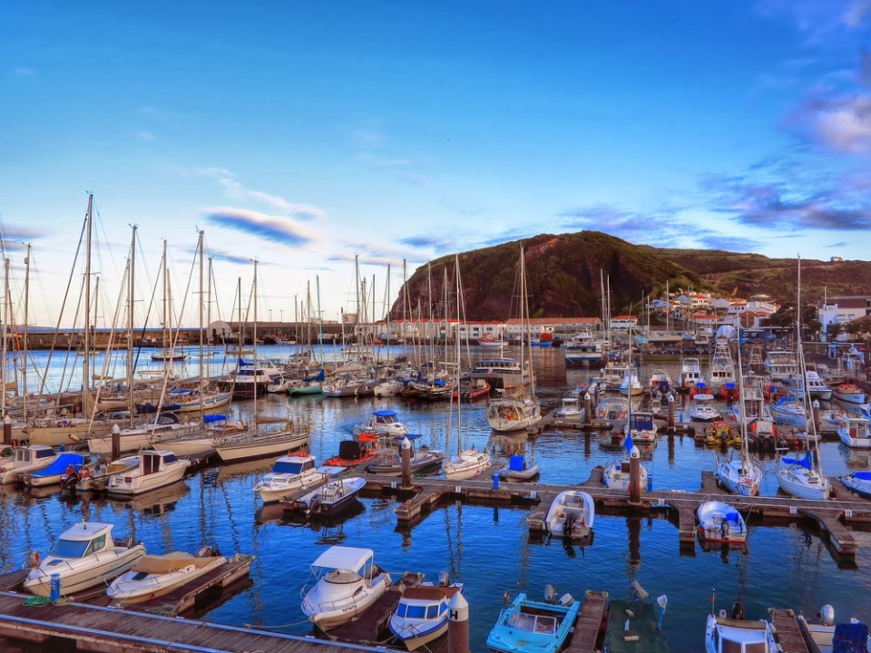 Azores Boats at Maria in Horta Faial
