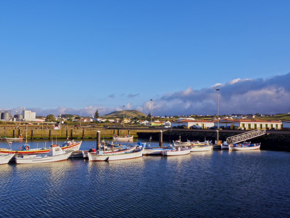 Marina in the Azores for boats Terceira Island Ferry