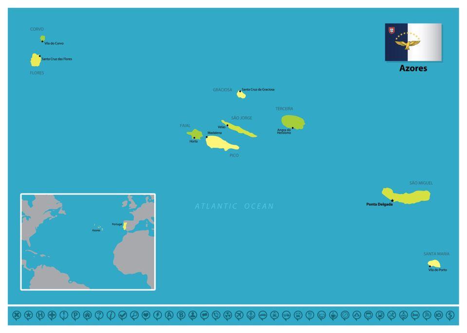 Azores atlantic islands covid map