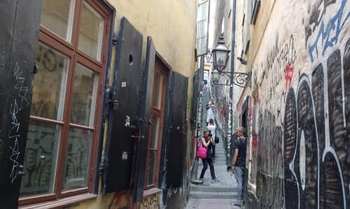 Our walking tour in Gamla Stan passes by Stockholm's smallest street