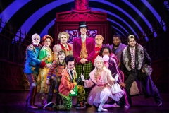 Cody Garcia as Willy Wonka and company. Roald Dahl's Charlie and the Chocolate Factory. Photo Jeremy Daniel.
