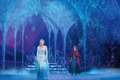 Caroline Bowman (Elsa) and Caroline Innerbichler (Anna) in Frozen North American Tour - photo by Deen van Meer