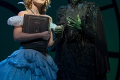 Allison Bailey and Talia Suskauser in the North American Tour of Wicked. Photo by Joan Marcus, 2017.