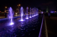 "The ""sound & light"" fountain at Warsaw New Town"