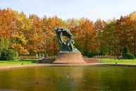 Chopin monument in Lazienki Royal Park
