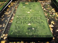 F. Chopin's parents grave at Powazki cemetery