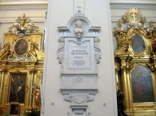 The Holy Cross church - plaque where Chopin's heart is placed