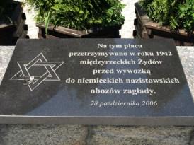 In memory of Międzyrzec Jews murdered by the Nazis during WW2