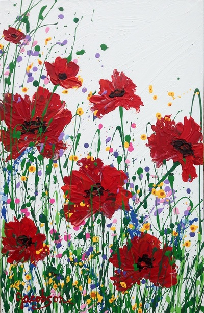 acrylic paintings of texas wildflowers
