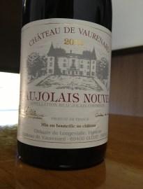 Une bouteille de Beaujolais Nouveau