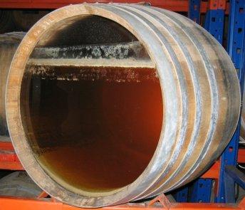 Fût de vin jaune avec le voile visible