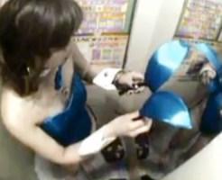 【着替え盗撮動画】コスプレ更衣室を完備したゲーセンでプリクラ撮影のためバニーに着替える素人ww