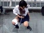 【野ション隠撮動画】学校の屋上や公共の公園で女子校生の悪ふざけ…友達とオシッコ見せ合う思春期女子ww