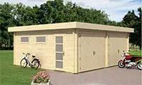 garage bois en kit de la gamme Touschalets