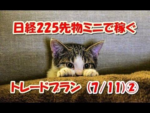 日経225先物ミニで稼ぐ~トレードプラン(7/11)②