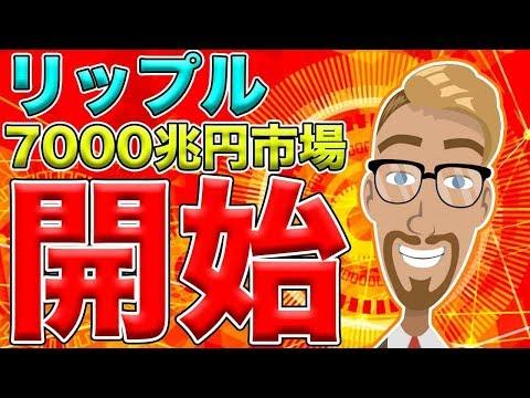 【仮想通貨】リップル(XRP)7000兆円の金融市場に導入開始