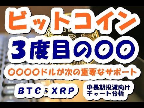 仮想通貨 ビットコイン暴落?いいえ3度目の〇〇!〇〇ドルが重要なサーポート