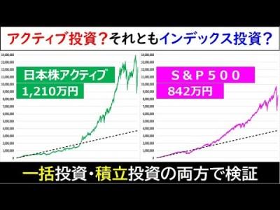 インデックス投資に負けないアクティブ投資の底力(積立投資と一括投資の両方で検証)