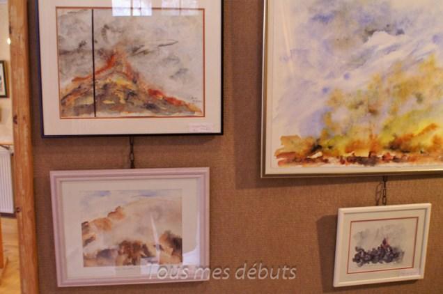 Les aquarelles de Mme Michèle Neveux exposées à La Ferté-Milon. Avec son aimable autorisation