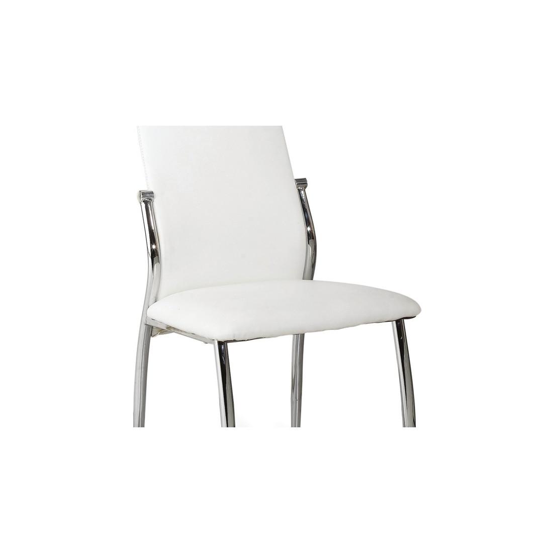 Mobilier Table Chaises Simili Cuir Blanc