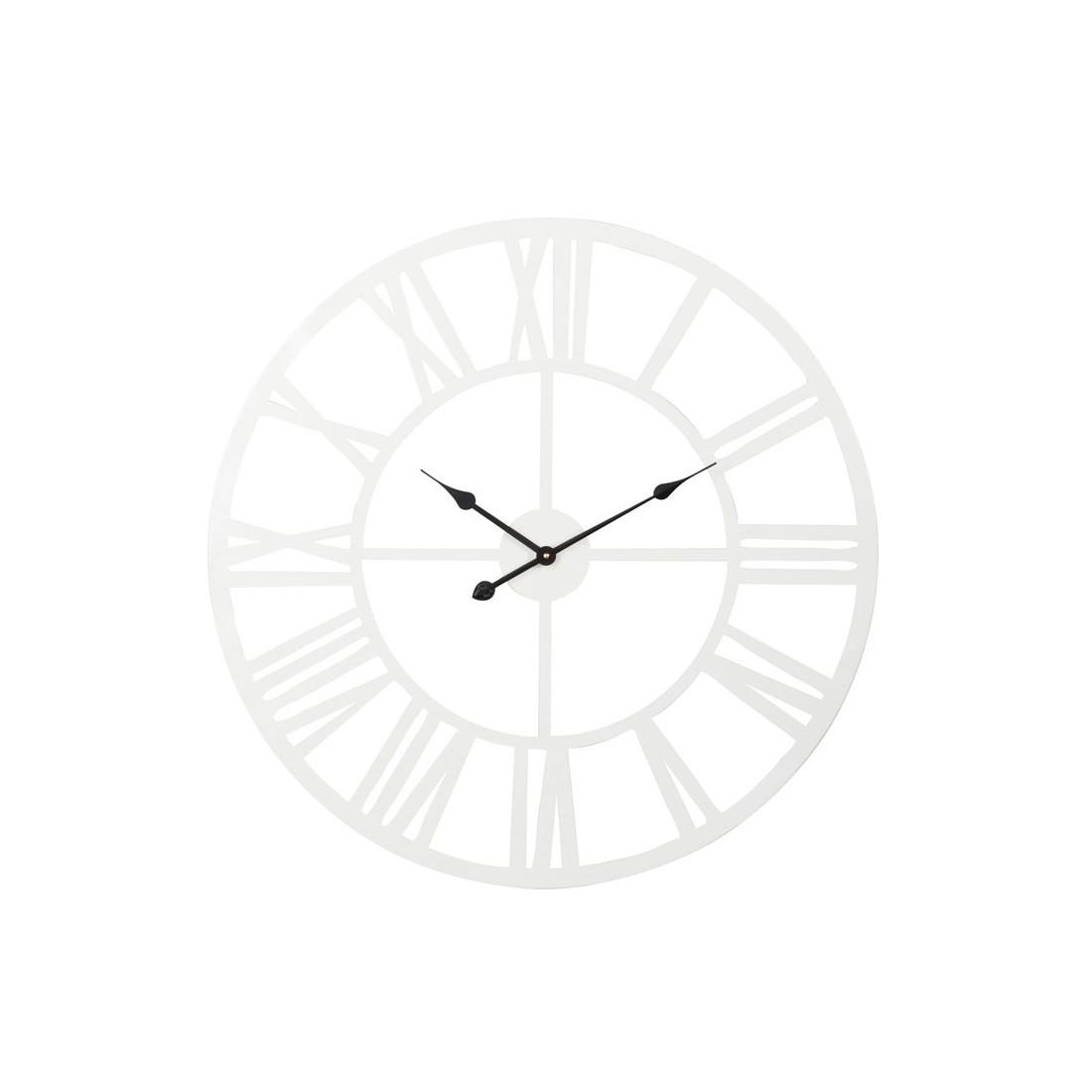 Horloge Ronde Taille M Mtal Blanc ISATIS Univers De La