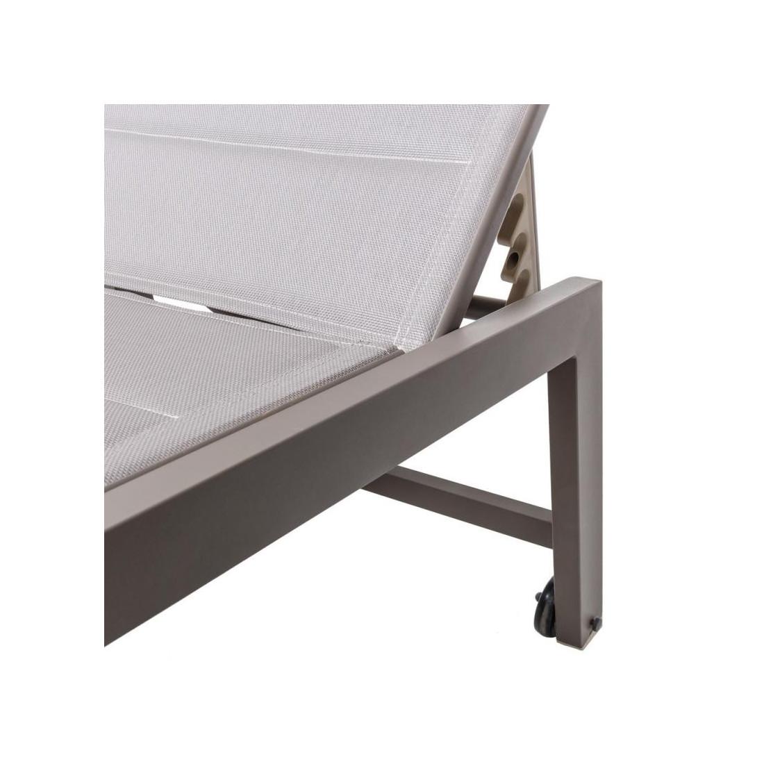 bain de soleil aluminium textilene gris