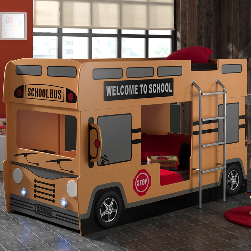 Lit superpos bus SCHOOL  Univers Chambre  Tousmesmeubles