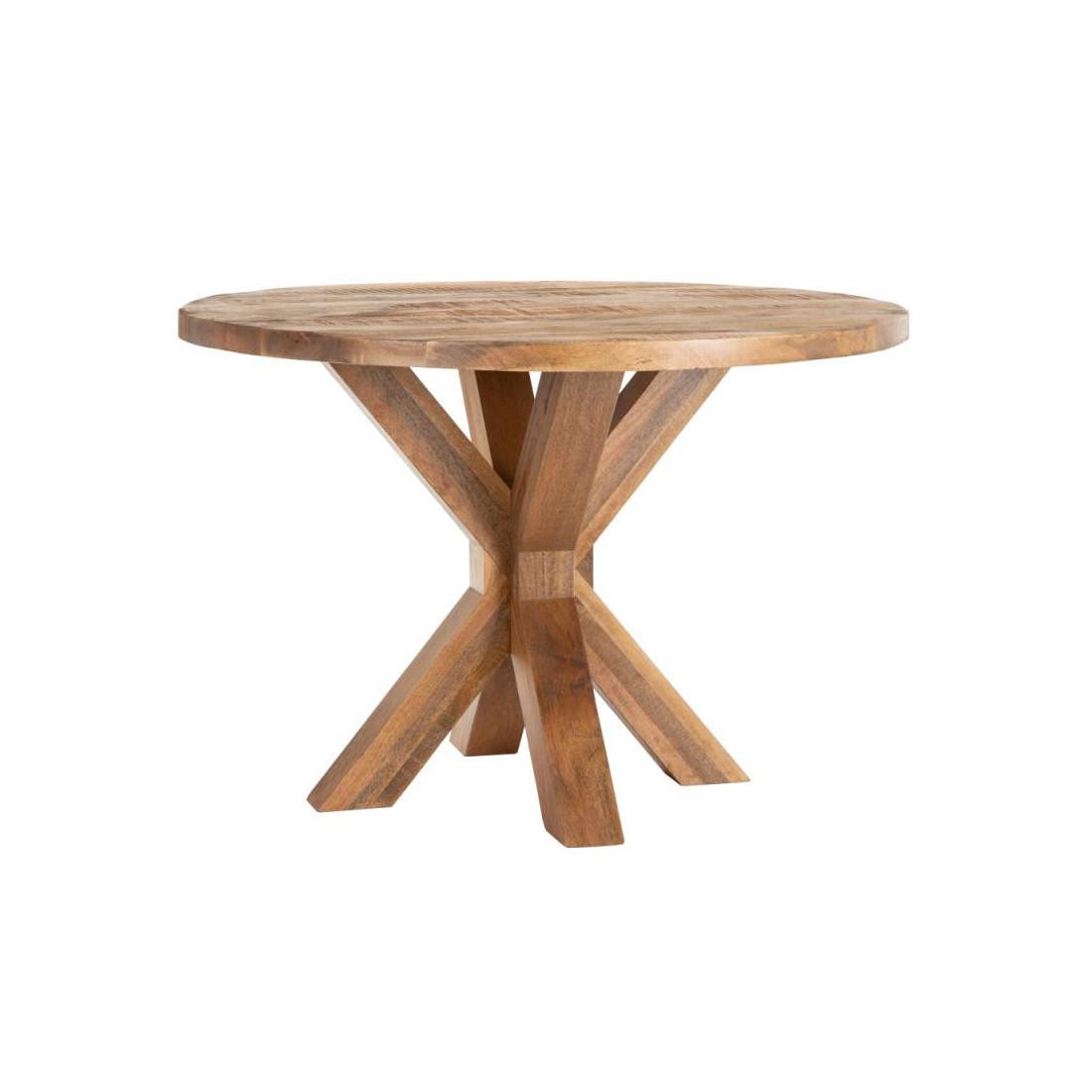 table de repas ronde bois exotique