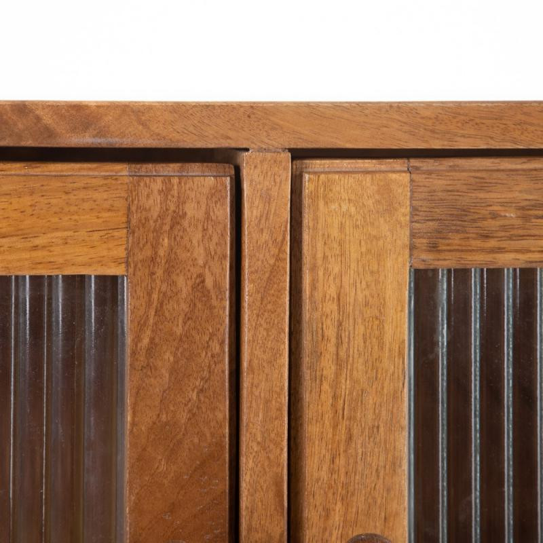 buffet 3 portes vitrees bois fonce