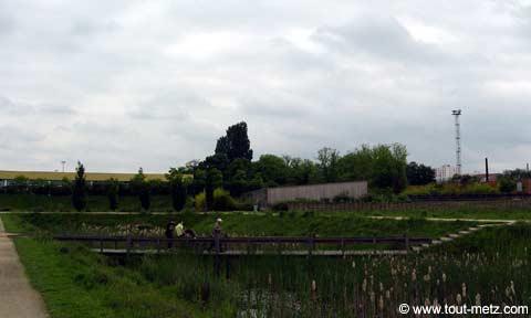 Parc de la Seille à Metz passerelle 3
