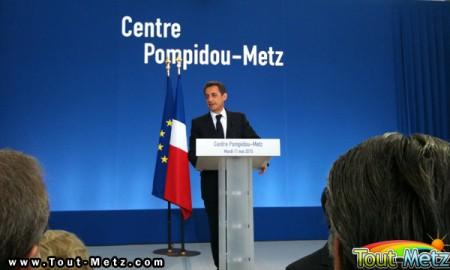 Nicolas Sarkozy Metz inauguration Pompidou