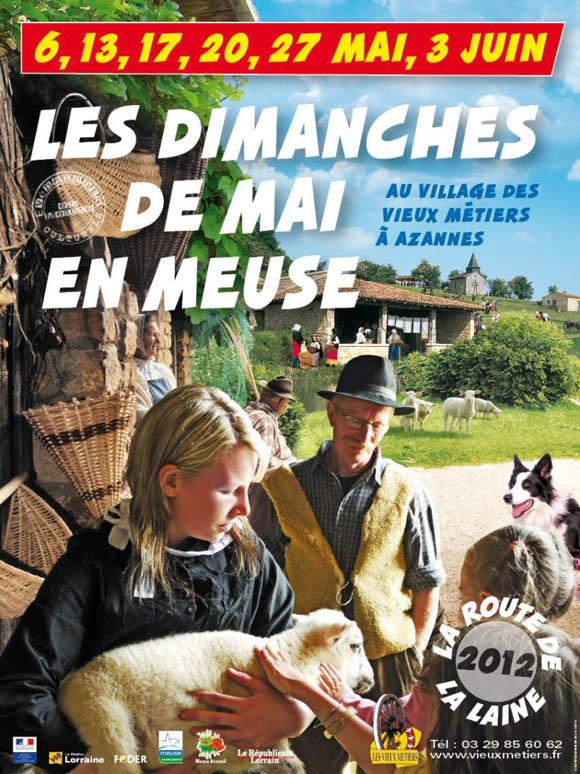 Affiche des Dimanches de mai en Meuse