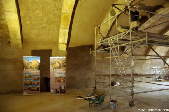 """La """"grande salle"""" de la porte des allemands. Photo : Arnaud HOULLE pour Tout-Metz.com"""
