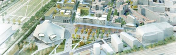 Zone sur laquelle sera implantée le futur centre des congrès