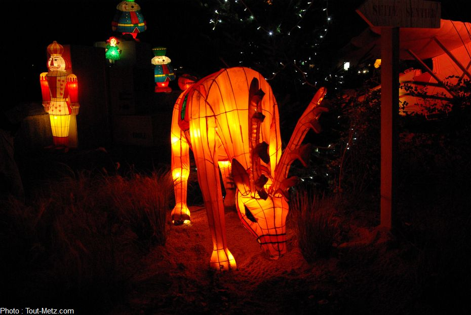Telles des lueurs habitées, les lanternes jouent avec l'espace, invitant à se laisser chambouler le sens de l'orientation.