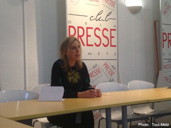 Emma Lavigne, nouvelle directrice du Centre Pompidou-Metz, présente la saison 2015 à la presse.