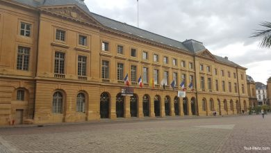 Photo of Un spectacle son et lumière projeté sur l'Hôtel de ville de Metz pendant les Fêtes de la Mirabelle 2016