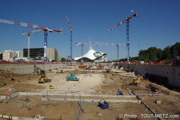 Le chantier du centre commercial Muse à Metz d'un bout à l'autre
