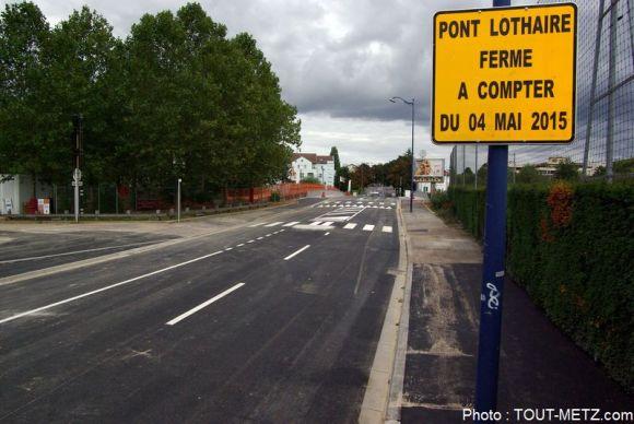 Le pont Lothaire ne pouvait plus être emprunté depuis le 4 mai 2015.