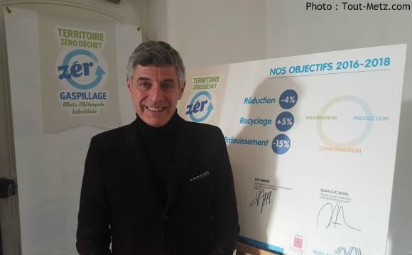 Jean Luc Bohl, président de l'agglomération, engage Metz Métropole vers le zéro déchets, zéro gaspillage.