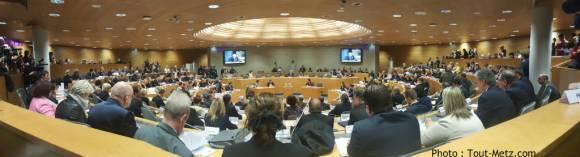 L'assemblée du Conseil Régional de la région Grand Est à Strasbourg