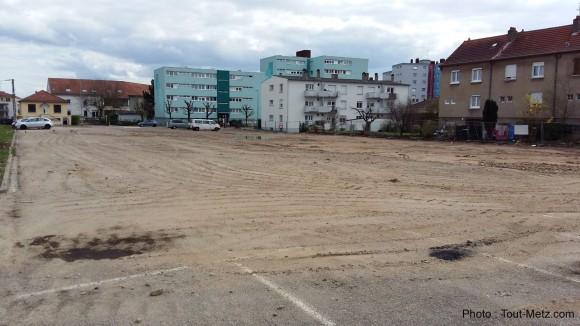 La maison médicale sera implantée sur ce terrain vague situé au coin de la rue de Marly et de la rue de Nomeny