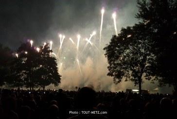 A ne pas manquer à Metz, le feu d'artifice des Fêtes de la Mirabelle