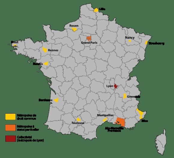 """La carte des Métropoles de France, qui serait restée figée ainsi sans cet amendement n°41, illustre bien la logique de """"disparition de la carte de France"""" à l'heure où les métropoles sont boostées par le gouvernement."""