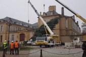 Metz : le grand sapin de Noël est dressé (vidéo)