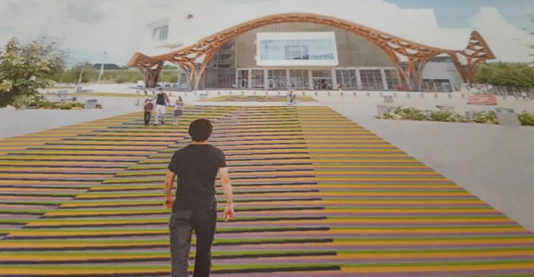 Photo of Une oeuvre colorée de 500m2 devant le Centre Pompidou-Metz
